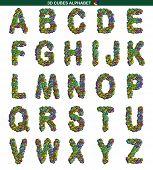 3D Cubes Alphabet in Colors