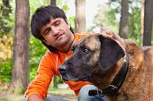 picture of mans-best-friend  - man and his dog  - JPG