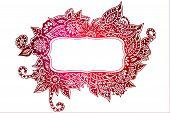 Red Doodle Frame