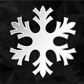 Paper Snowflake Over Geometric Background