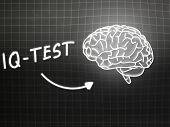 Iq Test  Brain Background Knowledge Science Blackboard Gray
