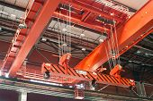 Large-tonnage Industrial Orange Goliath Crane