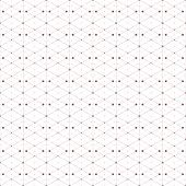 foto of node  - Dotted seamless pattern with rhombus and nodes - JPG