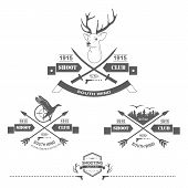 picture of duck-hunting  - Set of vintage hunting logo - JPG
