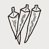 picture of okras  - Okra Doodle - JPG