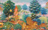 picture of mural  - Art Thai - JPG
