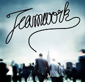 stock photo of collaboration  - Teamwork Team Collaboration Support Member Unity Concept - JPG