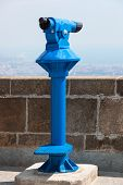 picture of observed  - modern blue device for observing close up - JPG