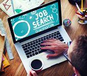 foto of recruitment  - Job Search Qualification Resume Recruitment Hiring Application Concept - JPG