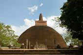 stock photo of vihara  - Anuradhapura ruin historical capital city of the Sinhalese Buddhist state on Sri Lances The photograph is presenting the Adhayagiri dagoba  - JPG