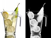 image of pitcher  - Pear lemonade in pitcher - JPG