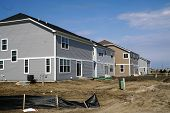stock photo of illinois  - New suburban tract homes under construction in Plainfield - JPG