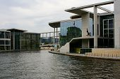 Berlin Governmental Buildings At River Spree