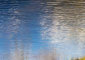 stock photo of reflection  - close up of water surface with ripples - JPG