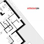 foto of architecture  - Architectural drawing of a private house - JPG