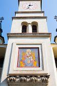 pic of saint-nicolas  - Part of the facade of Saint Nicholas Church in Brasov - JPG
