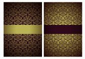picture of marsala  - Vector golden and marsala greeting cards - JPG
