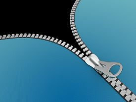 stock photo of three dimensional shape  - Zipper - JPG