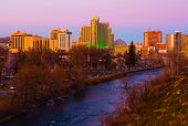 stock photo of sluts  - Reno at sunset - JPG