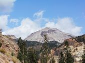Lassen Peak At Fall