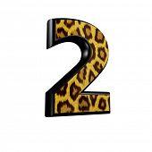 Постер, плакат: 3D цифра с Пантер текстуры кожи 2