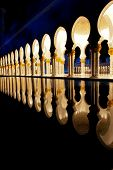 Sheikh zayed mosque in Abu Dhabi, UAE, Middle East - Columns detail