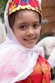 Little girl in traditional Turkish - Ottoman clothes