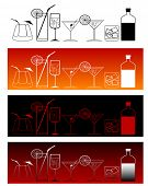 vector illustration of cocktail drinks