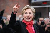 MANCHESTER, NH â?? JAN 8: Senator Hillary Clinton campaigning to become the Democratic party preside