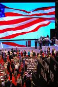 ST PAUL - SEPT 3: Delegates gather inside the Republican National Convention at the Xcel Energy Cent