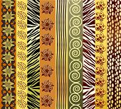 An illustration of African fabric in earth tones