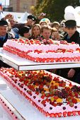 RUSSIA, MOSCOW - SEPTEMBER 26: Solemn events for a case of anniversary of factory.