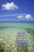 Airbed In The Sea