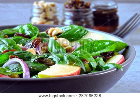 Apple Salad With Basil Raisins