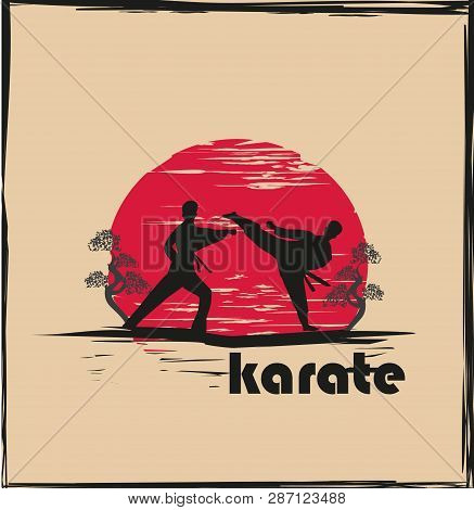 Creative Abstract Illustration Of Karate