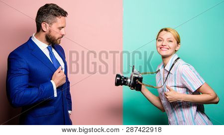 Businessman Enjoy Star Moment Photographer