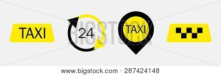 Set Of Taxi Service Vector