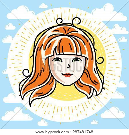 Woman Face Human Head Vector