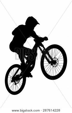 Jump Athlete Rider Mtb Downhill