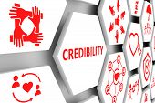 Credibility Concept Cell Background 3d Render Illustration poster