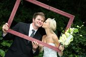 Beautiful Wedding Couple With Frame
