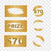 Scratch Card Elements. Lottery Scratch And Win Game Card Background. poster