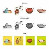Vector Illustration Of Culture And Sightseeing Icon. Set Of Culture And Originality Vector Icon For  poster