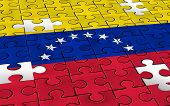 Venezuela Concept And Political Challenge And  Crisis Or Venezuelan Politics As Uncertainty In Carac poster