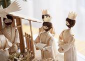 Christmas Crib And Three Wise Men
