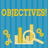 Handwriting Text Objectives. Concept Meaning Goals Planned To Be Achieved Desired Targets. poster