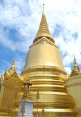 Golden Chedi At Wat Phra Keaw