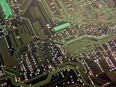 Computer Circuit Board Green