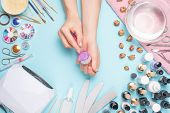 Manicure - Tools For Creating, Gel Polishes, Care And Hygiene For Nails. Beauty Salon, Nail Salon, M poster