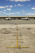 Empty Airplane Terminal At Airport